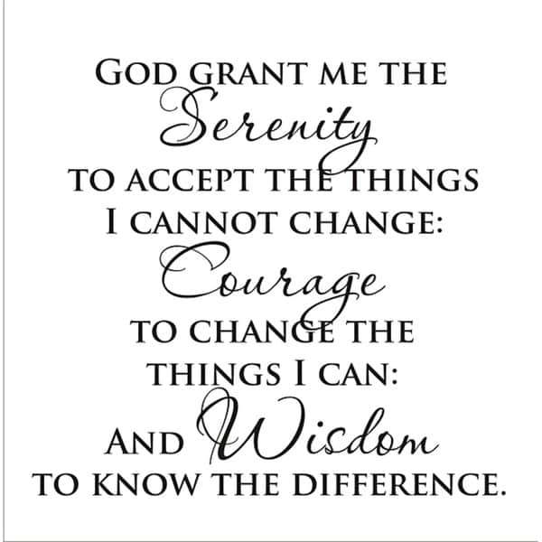 The Full Serenity Prayer