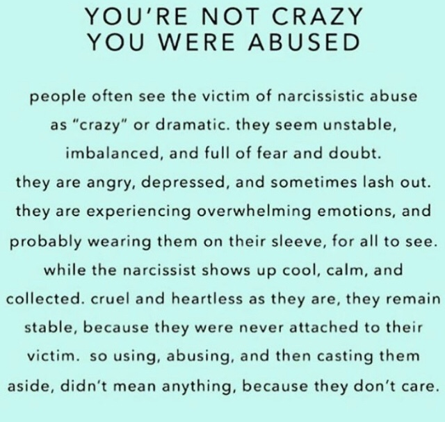 You're Not Crazy You Were Abused