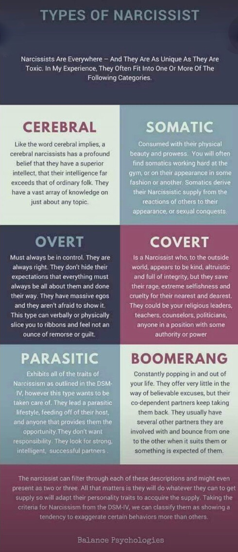 Types of Narcissists